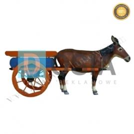 FZ47 - Osioł z wózkiem figura reklamowa, dekoracyjna