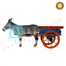FZ46 - Osioł z wózkiem figura reklamowa, dekoracyjna