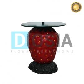 OW36 - Truskawka-stół - figura reklamowa-dekoracyjna