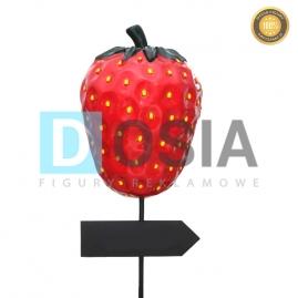 OW33- Truskawka-drogowskaz - figura reklamowa-dekoracyjna